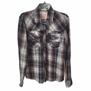 Affliction Black Premium Button Down Shirt Size M